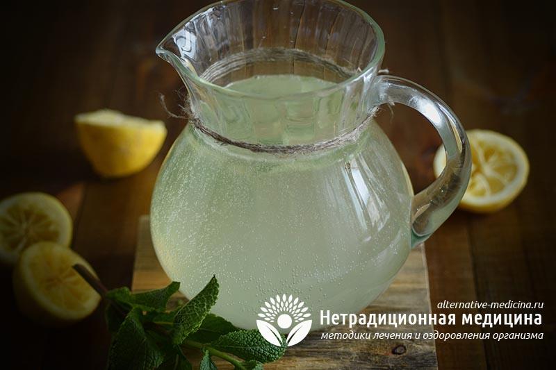 домашний лимонад с мятой