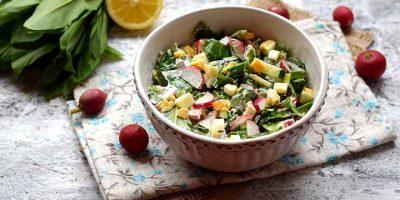 Миниатюра к статье Вкусный салат из черемши, яиц и редиски  — пошаговый рецепт с фото