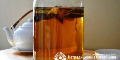 Миниатюра к статье Чайный гриб — полезные свойства и правила приготовления целебного напитка
