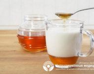 Миниатюра к статье Молоко с содой и медом - простое и эффективное средство от кашля