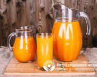 Миниатюра к статье Облепиховый сок - полезные свойства вкусного ягодного напитка