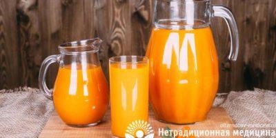 Миниатюра к статье Облепиховый сок — полезные свойства вкусного ягодного напитка