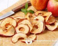 Миниатюра к статье Чем полезны сушеные яблоки и как  их правильно готовить и употреблять