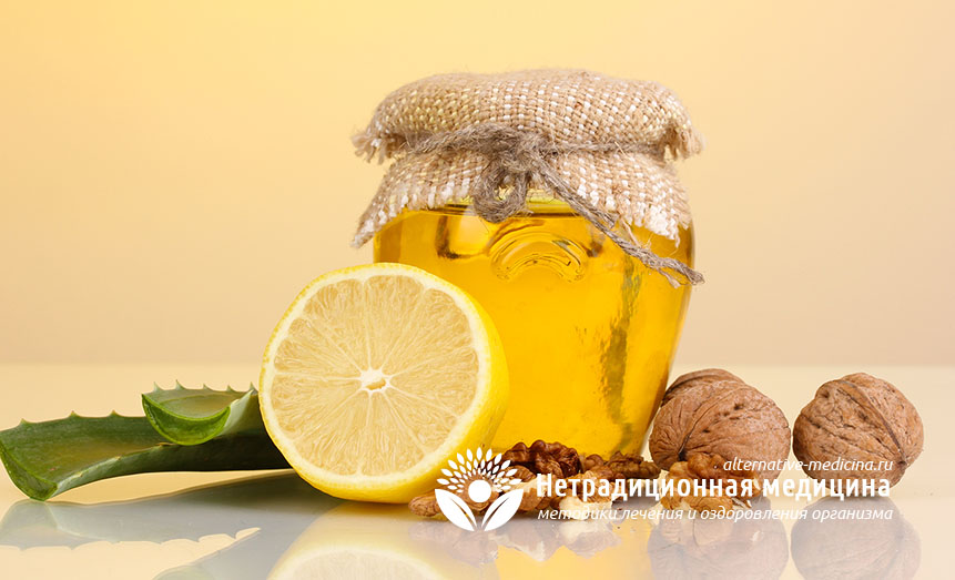 Мед с лимоном