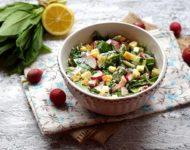Миниатюра к статье Вкусный салат из черемши, яиц и редиски  - пошаговый рецепт с фото