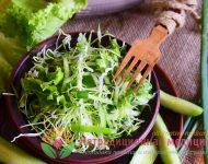 Миниатюра к статье Витаминный салат с капустой и огурцом - подробный рецепт с фото