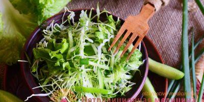 Миниатюра к статье Витаминный салат с капустой и огурцом – подробный рецепт с фото