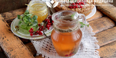 Миниатюра к статье Витаминный напиток для повышения иммунитета с ягодами, мятой и пряностями